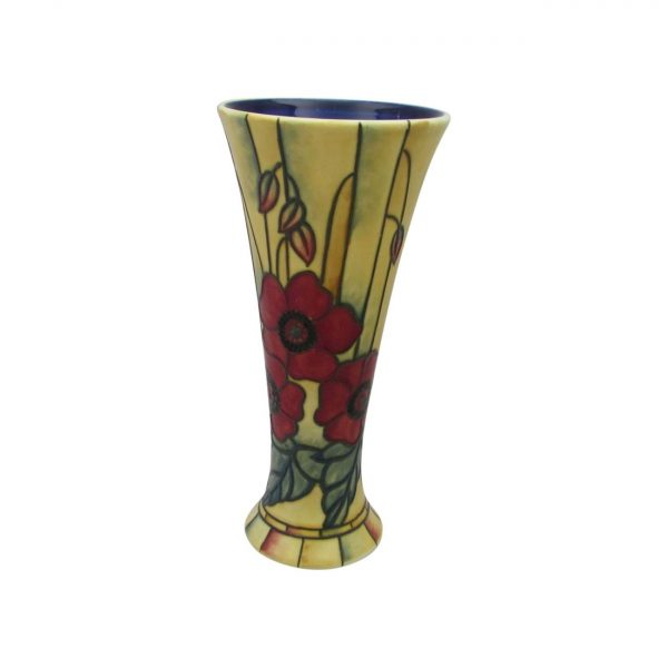 Yellow Poppy Design Flared Vase by Old Tupton Ware