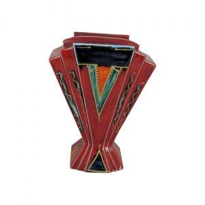 Abstract Style Design Fan Vase Anita Harris Art Pottery