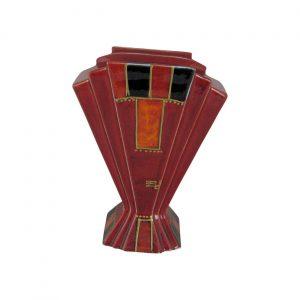 Abstract Design III Fan Vase Anita Harris Art Pottery