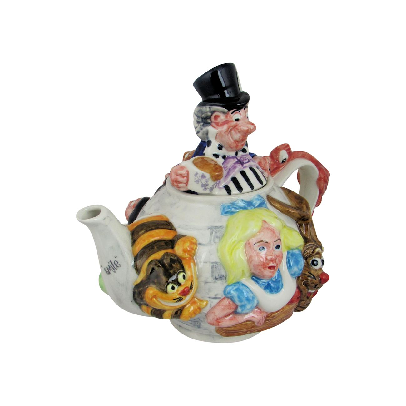 Alice In Wonderland Teapot Paul Cardew Design Stoke Art Pottery