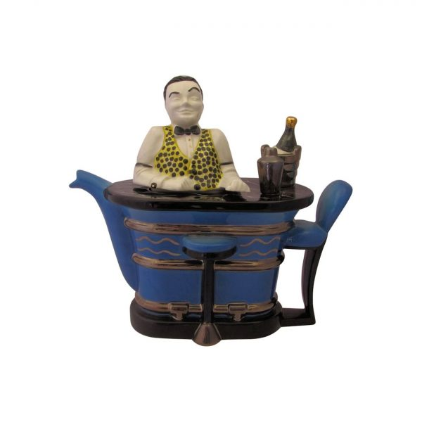 Swineside Ceramics Cocktail Bar Man Novelty Teapot