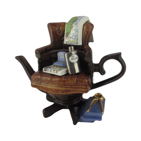 Richard Parrington Captains Chair Novelty Teapot