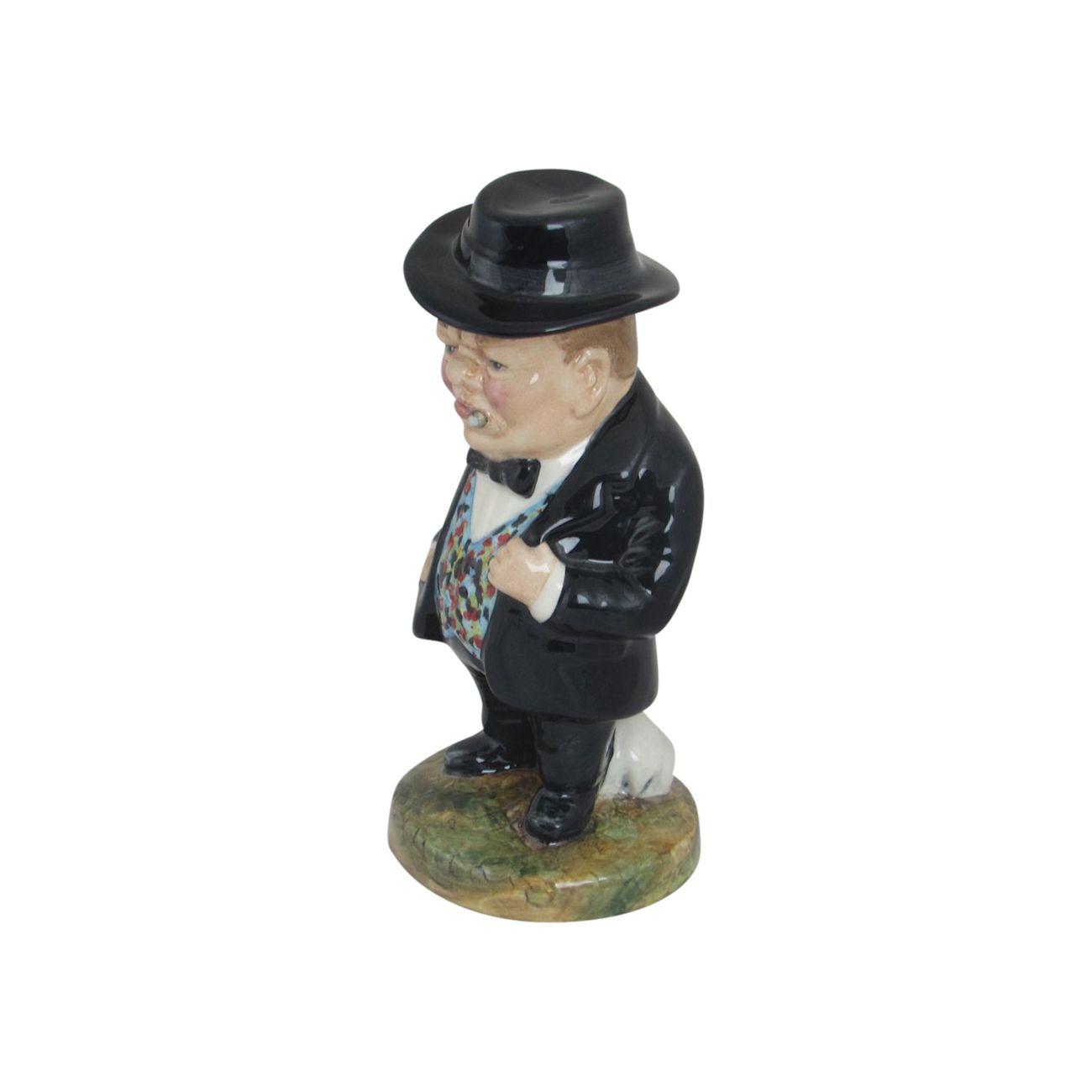 Winston Churchill Figure Bulldog Breed Design Stoke Art
