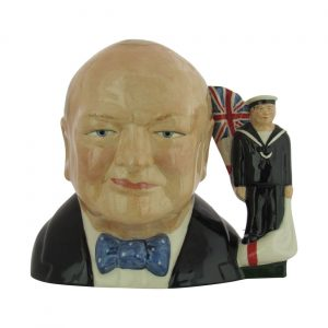 Winston Churchill Character Jug Royal Navy Colourway