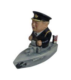 Churchill Naval Ship Figure Black Uniform Bairstow Pottery