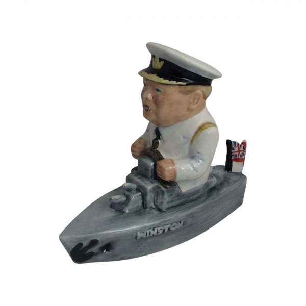 Winston Churchill Naval Ship Figure White Uniform Bairstow Pottery