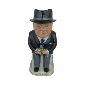 Allied Leader Winston Churchill Toby Jug Bairstow Pottery