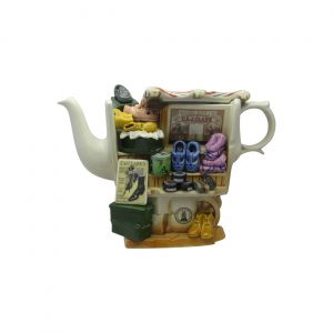 Shoe Market Stall Novelty Teapot by Paul Cardew
