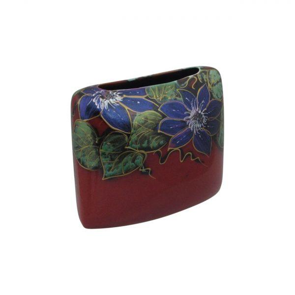 Anita Harris Art Pottery Vase Clematis Design