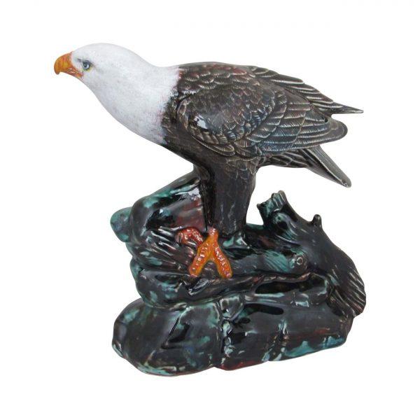 Bald Eagle Figure Hand Decorated Anita Harris Art Pottery