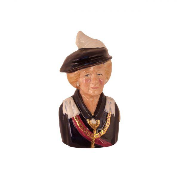 Margaret Thatcher Order of the Garter Toby Jug