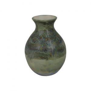 Burslem Pottery Stoneware High Fired Glazed Round Vase