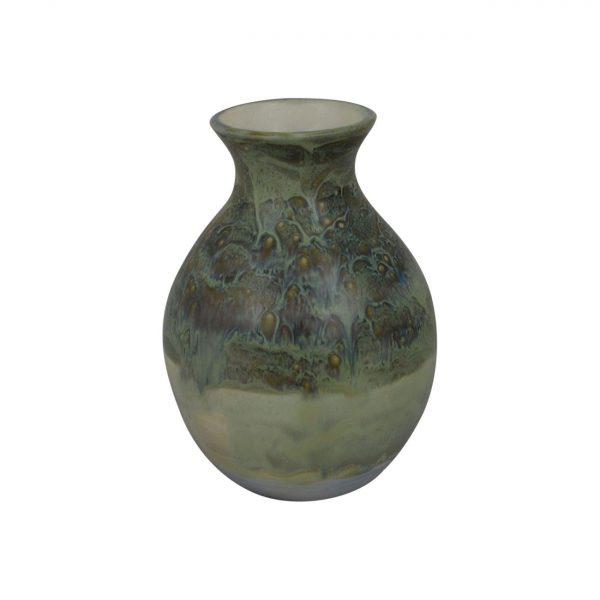 Burslem Pottery Stoneware High Fired Glazed Round Vase