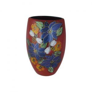 Honey Bee Design Small Oval Vase Anita Harris Art Pottery