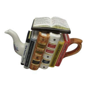 Jane Austen Books Large Teapot Carters of Suffolk