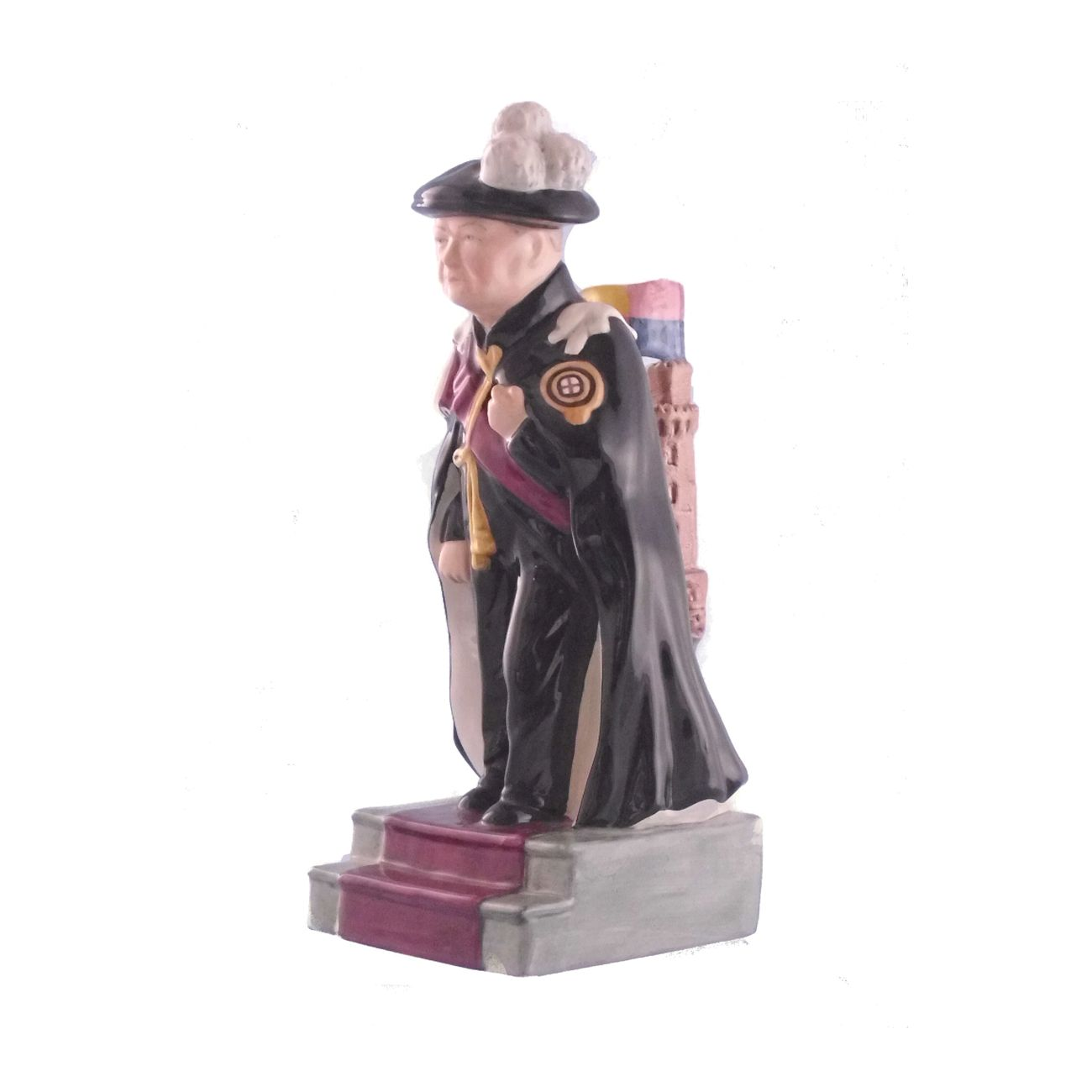 Winston Churchill Figure Knight Of The Garter Stoke Art Pottery
