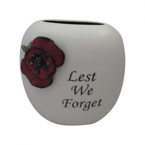 Anita Harris Art Pottery 19cm Purse Vase Lest We Forget Design