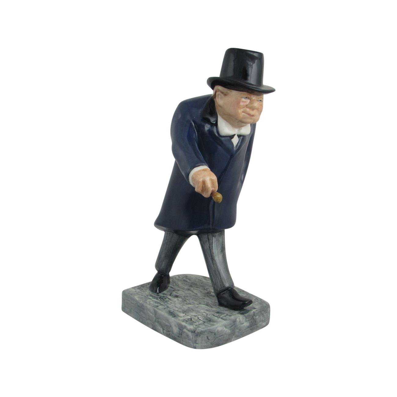 Winston Churchill Figure Man In A Hurry Bairstow Pottery