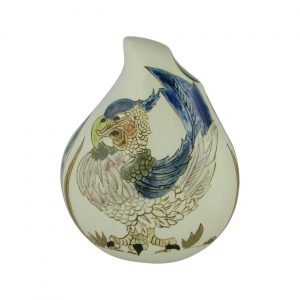 Burslem Pottery Teardrop Vase Perez the Parrot Design