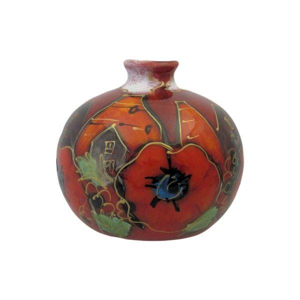 Anita Harris Art Pottery 10cm Vase Potteries Poppy Design