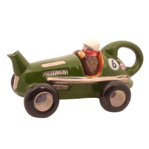 Racing Car Teapot Green Colourway Carters of Suffolk