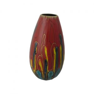 Red Mirage Design Cone Vase Anita Harris Art Pottery