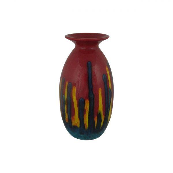 Red Mirage Design Minos Shaped Vase Anita Harris Art Pottery