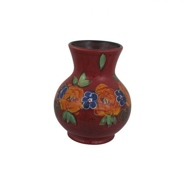 Anita Harris Art Pottery 14cm Vase Regal Rose Design