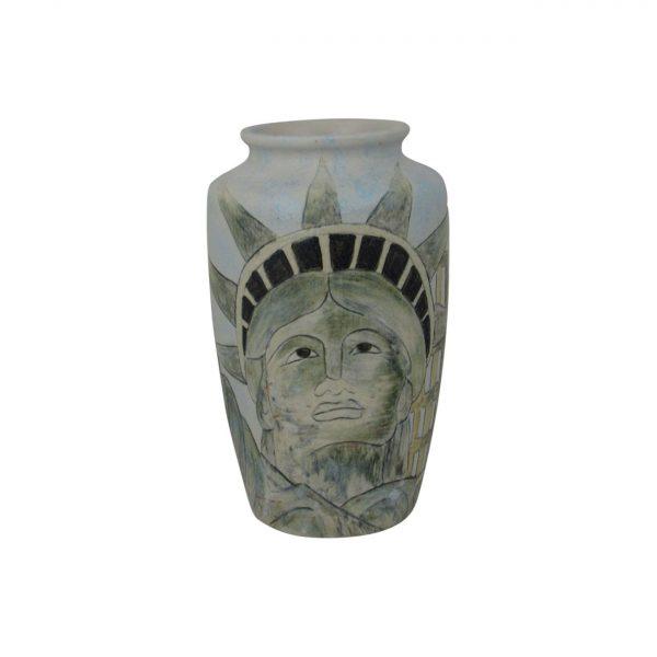Burslem Pottery Small Vase Man of Fire Design