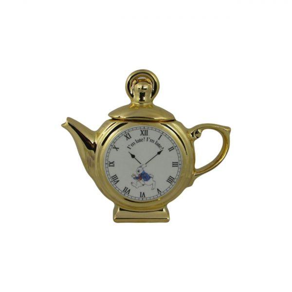 Alice in Wonderland Pocket Watch Novelty Teapot