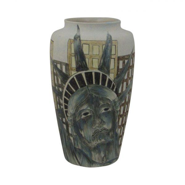 Burslem Pottery Tall Vase Man of Fire Design