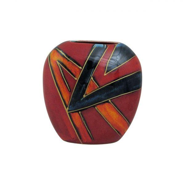 Purse Vase Two Angles Abstract Design Anita Harris Art Pottery