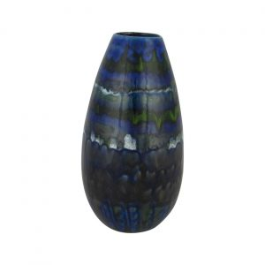 Anita Harris Art Pottery Cone Vase Blue Volcano Design