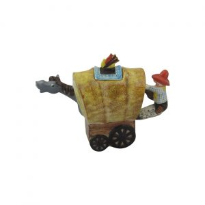 Wagon Collectable Novelty Teapot Moorland Pottery