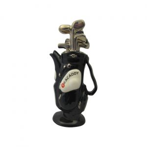 Golf Bag Medium Teapot Black Colourway Ceramic Inspirations