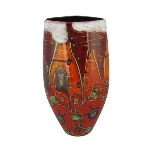 Anita Harris Art Pottery 24cm Vase Potteries Poppies Design
