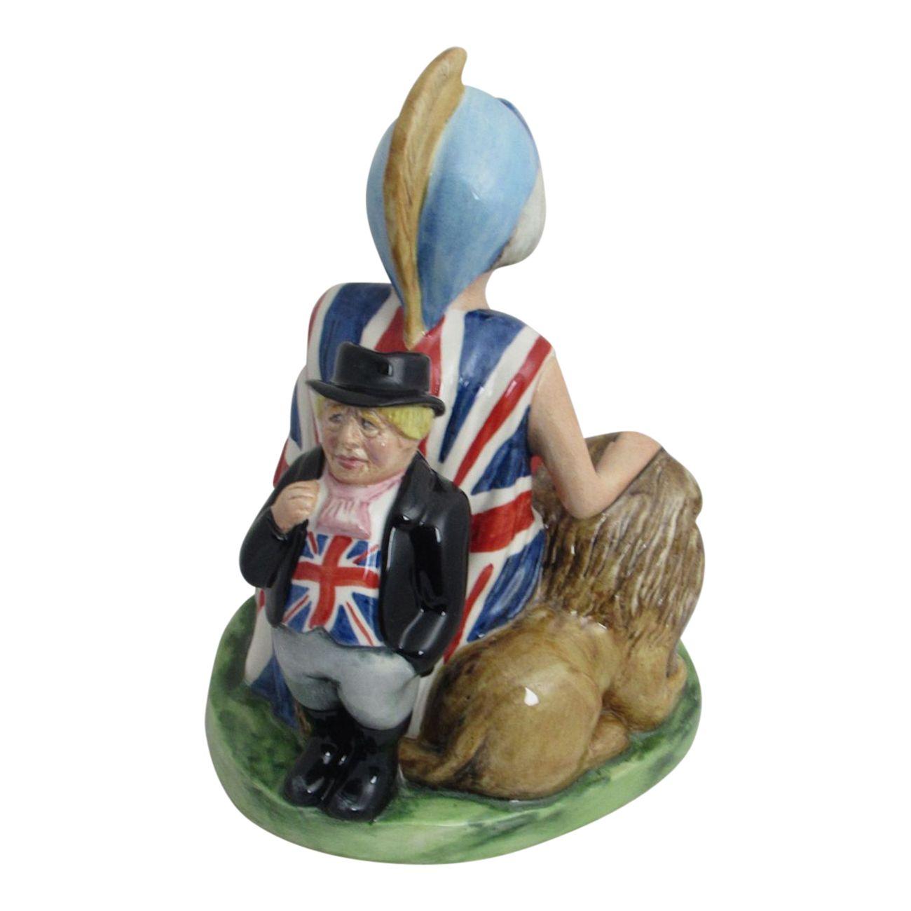 Bairstow Pottery Theresa May Brexitannia Figure Stoke