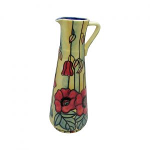 Yellow Poppy Design Slim Jug Old Tupton Ware