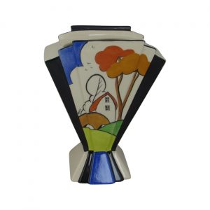 Marie Graves Ceramic Artist Fan Vase Bridge Cottage Design