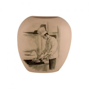 Chef Design Purse Vase Anthony Cartlidge Ceramic Artist