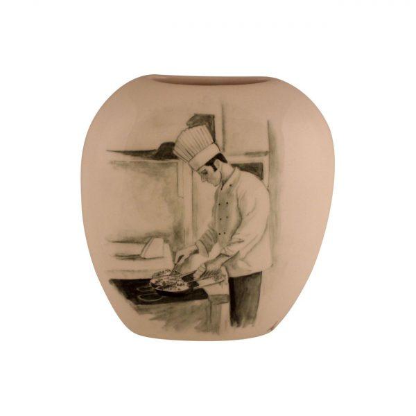 Tony Cartlidge Ceramic Artist Vase The Chef Design
