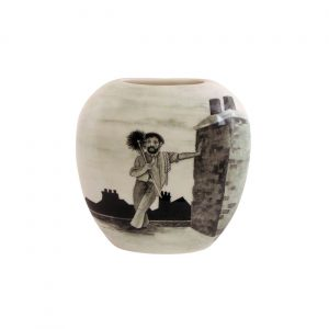 Tony Cartlidge Ceramic Artist 12cm Vase The Chimney Sweep Design