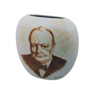 Tony Cartlidge Ceramic Artist Vase Churchill the Politician Design