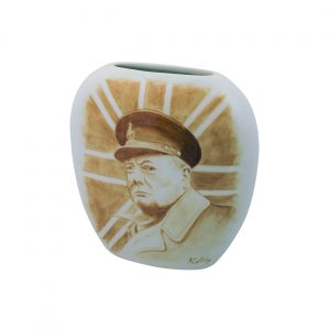 Churchill the Soldier Decorative Vase