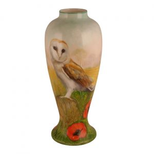 30cm Ceramic Vase The Edge of the Cornfield Design