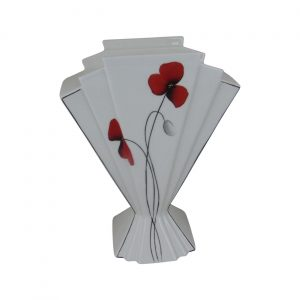 Emma Bailey Ceramics Fan Vase Poppy Design
