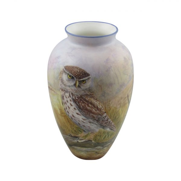 Peter Graves Ceramics Vase Little Owl Design.