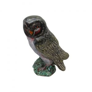 Owl Figure Hand Painted Natural Colours Anita Harris Art Pottery