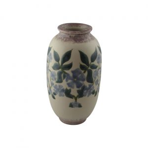 Cobridge Stoneware Hand Painted Vase Periwinkle Design
