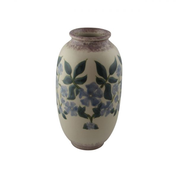 Cobridge Stoneware Hand Painted Vase Periwinkle Design